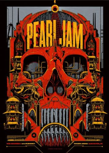 PEARL JAM - LIVE @ VANCOUVER canvas print - self adhesive poster - photo print